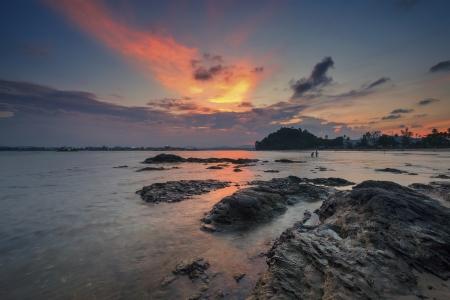 blissful: Blissful Sunset Stock Photo