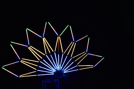 Light bulb beautiful shapes like flowers and stars. Banco de Imagens