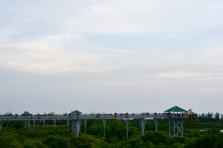 Bridge sky view point sky walk Pattani Thailand