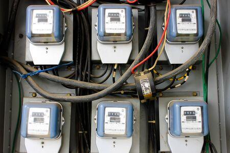 electric meters Stock Photo