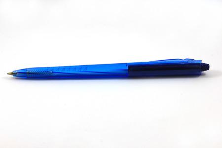 blue pen White background