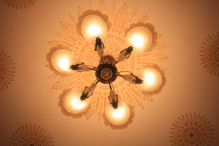 plafond: Ceiling lamp Stock Photo