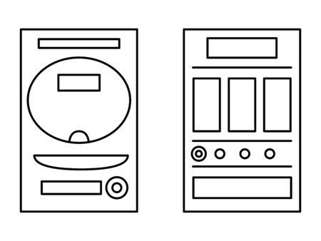 Pachinko Pachinko Stand Slot Illustration Icon Illusztráció