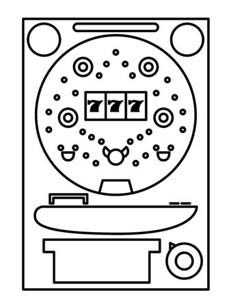 Pachinko Line Drawing Pachinko Stand Fever Illustration Icon