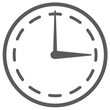 Clock Time Analog Clock Illustration Icon Vectores