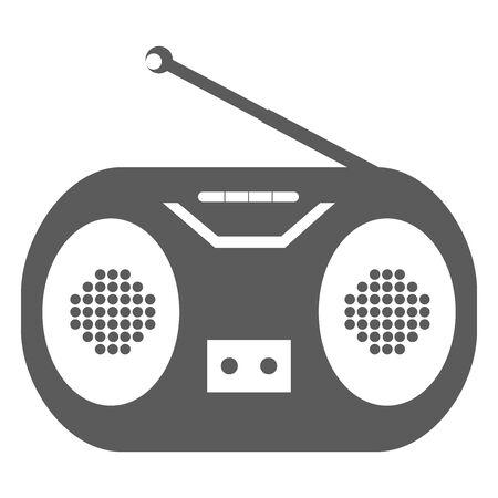 Radio Illustration Icon