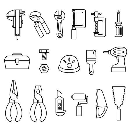Tool Icon Nogisu Yarn Wrench Pentch Electric Drill Saw Cutter Tool Box Bolt V