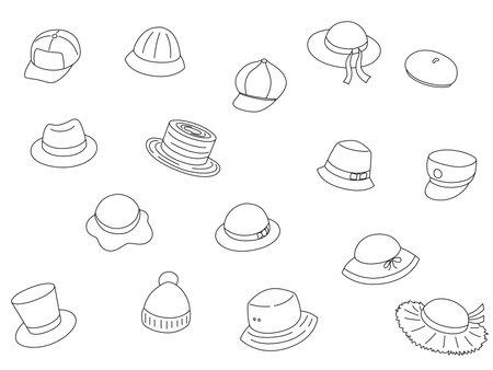 Hat Out Background Material Illustration Icon Ilustración de vector