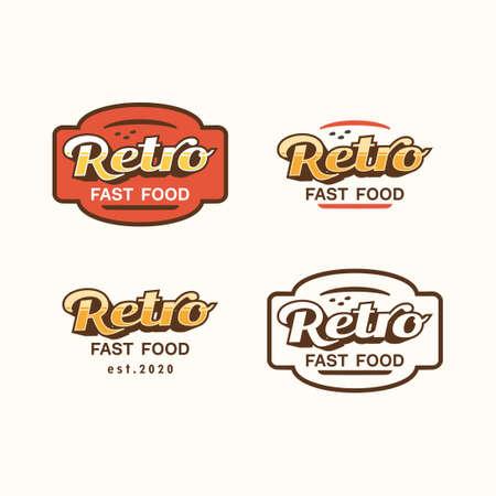 Logo retro fast food concept vector
