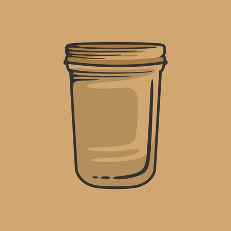 Mason jar template with vintage style