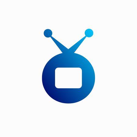 Television Logo formed letter O Ilustração