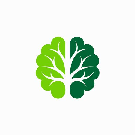 Brain logo that formed tree silhouette
