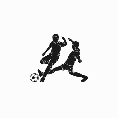 soccer player vector who is dribbling