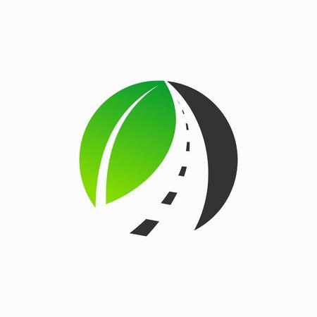leaf logo that formed road