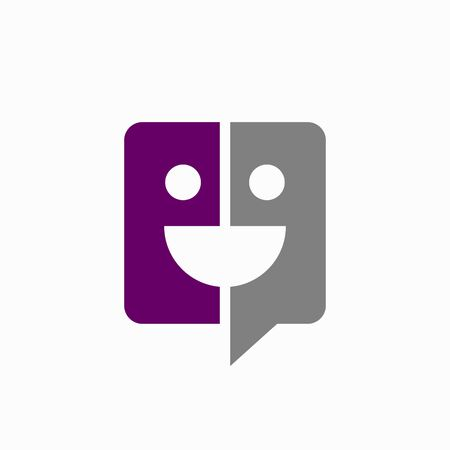 Talk icon that formed a smile