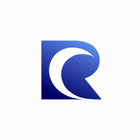 Moon logo that formed letter R