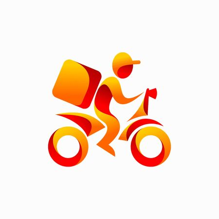 Motorcycle logo delivering the box Logó