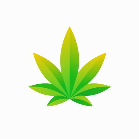 Cannabis logo with a simple concept