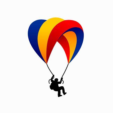 Fallschirmlogo mit einem einfachen Konzept Logo