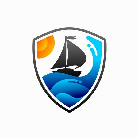 Yacht logo that formed shield