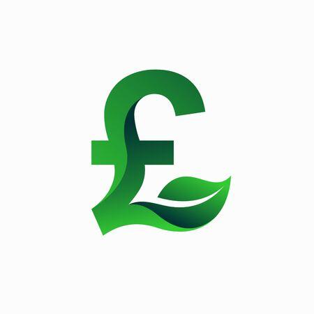 Livre sterling Logo vert