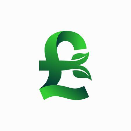 Pound sterling Green logo Logo