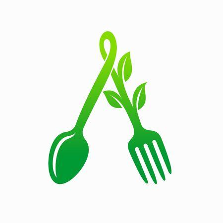 Home food logo, vegetarian logo design