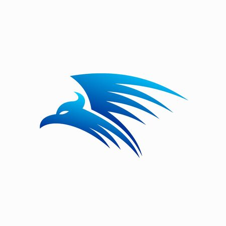 blue bird icon, phoenix logo design Çizim