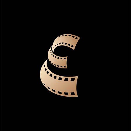 entertaiment film logo design, letter e logo design