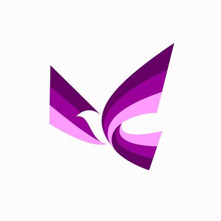 Flying bird Logo, bird logo design