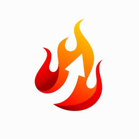 Arrow design, fire vector