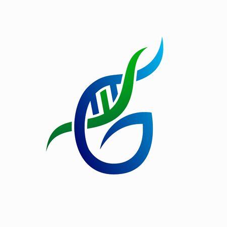 genome abstract  design, letter G  design illustration