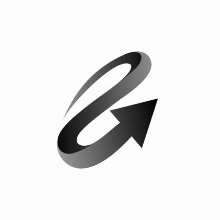 Hurricane vector logo, arrow logo design Vectores