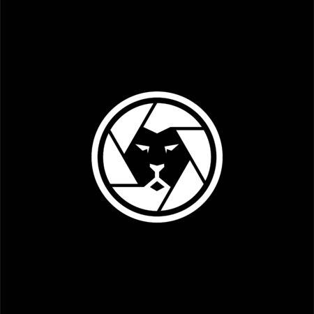 lion shutter logo, shutter logo design 일러스트