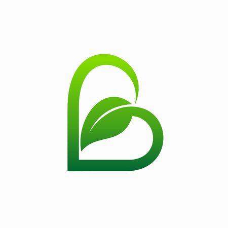 leaf logo that formed letter B