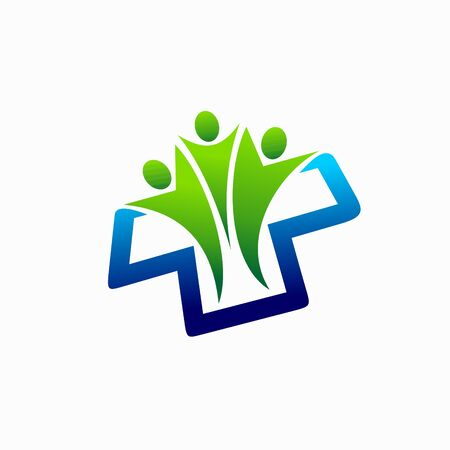 medical care people logo, health care people logo