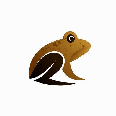 frog vector logo illustration, frog simple concept