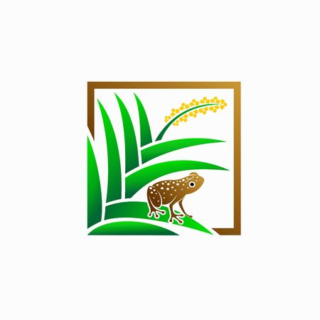 frog with orchids vector, frog and orchids vector 向量圖像