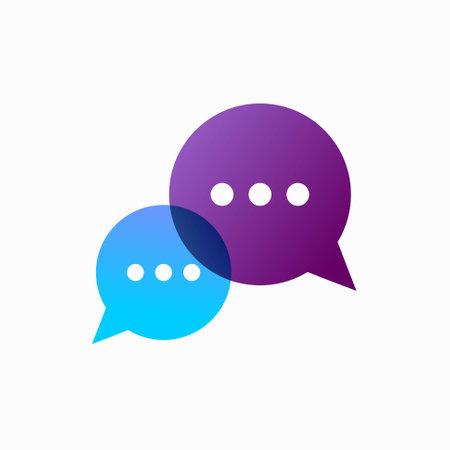 Conversation Icon Template, bubble chat icon