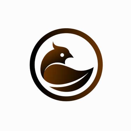 organic chicken logo design