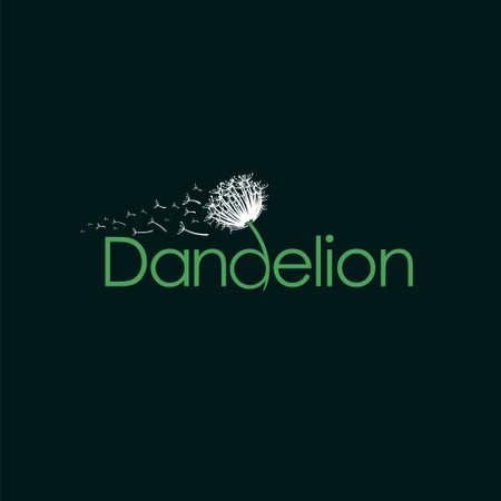 dandelion logo that formed letter d Illusztráció