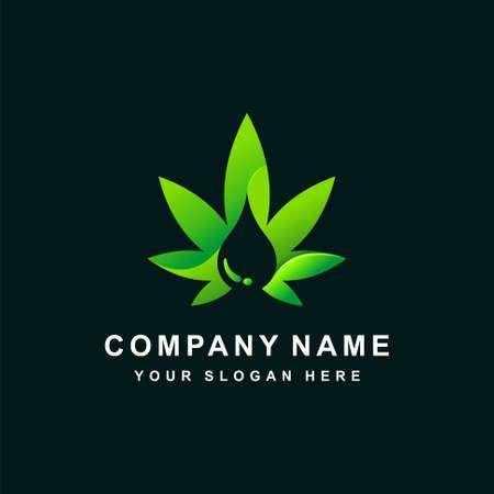 Cannabis Oil icon vector illustration template Illusztráció