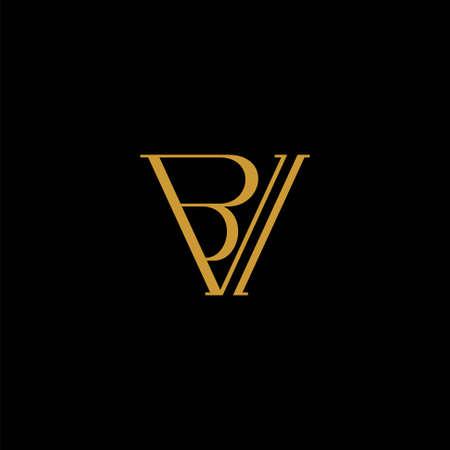 BV letter logo, VB logo design