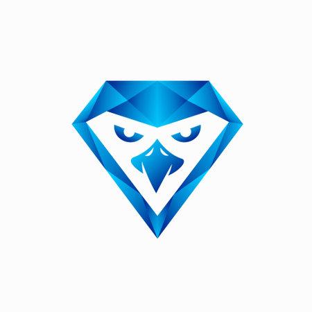 eagle diamond logo design