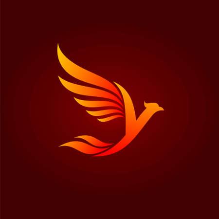 Phoenix bird that formed letter Y