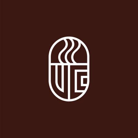 coffee cup icon logo, coffee vector template Illusztráció