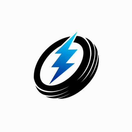 electrical repair shop logo, garage electrical logo
