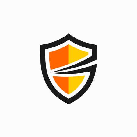 secure icon template, secure modern concept Illusztráció