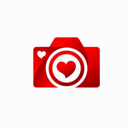 Photography Lovers Vector, camera lovers logo Illusztráció
