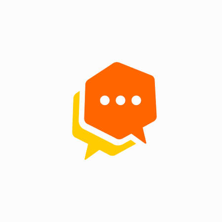double speech bubble icon template